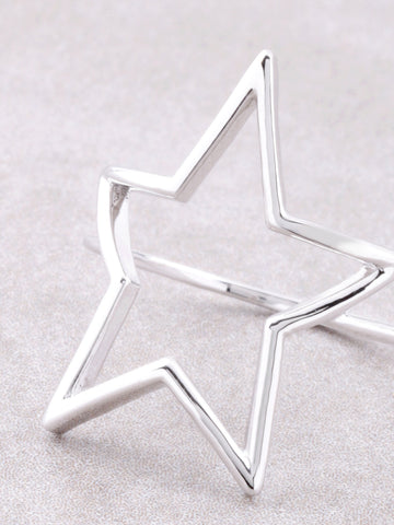 Open Star Ring Anarchy Street Silver - Details