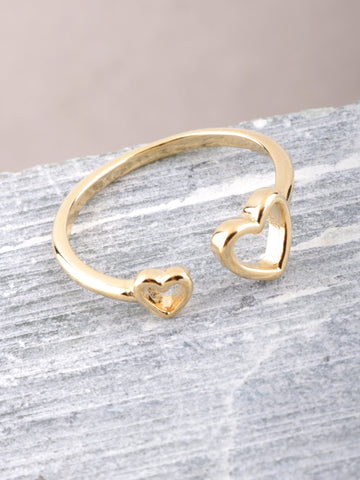 Hollow Heart Ring Anarchy Street Gold