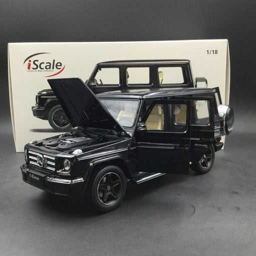 iScale 1:18 Mercedes-Benz G Klasse (Black) Diecast Full Open available now
