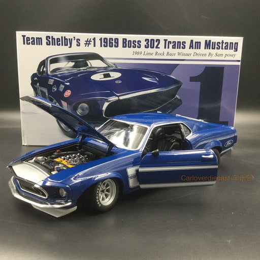 ACME 1:18 1969 Boss 302 Trans Am Mustang Street Version (A1801819B) Diecast available Now