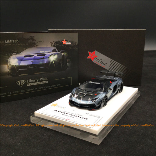 Fuelme 1:43 Liberty Walk Aventador 50th Limited edition (Metallic Gray) FM43007-50LE-WN02 resin car model available now