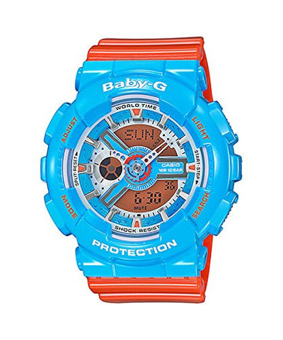 Casio Baby-G NEO POP COLOR Series Blue Orange Womens Resin Watch BA110NC-2A