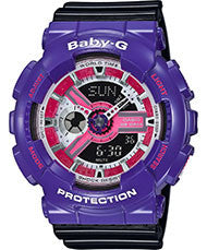 Baby G-Shock BA-110NC-6A Series 90's Color Series Watch - Purple/Pink