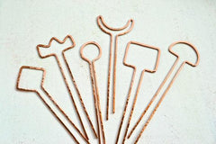 Diamond Hairpin - diamond silhouette hairpin in copper