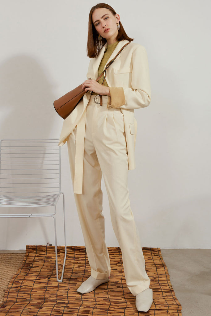 Belted Suit Pants