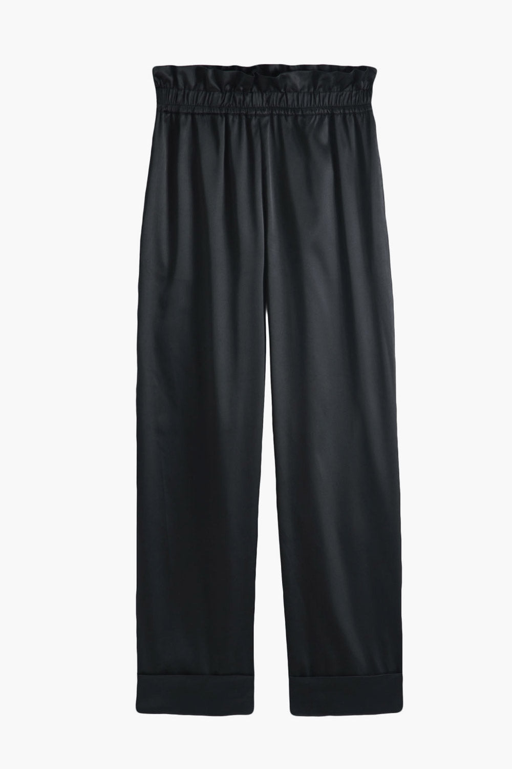 High-Rise Thin Silky Pants