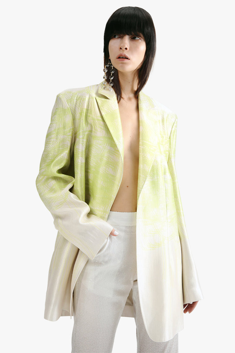 Wide Shoulder Blazer