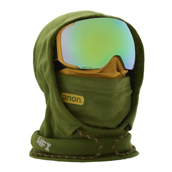 Anon MFI XL Hood Clava Green - First Tracks Boardstore