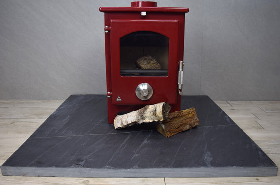 Large Square Black Slate Hearth