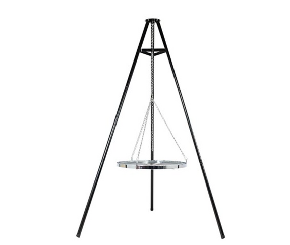 Tripod With Hanging Cooking Grill