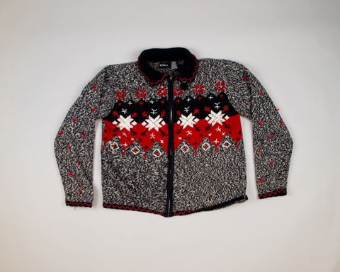 What's Black And White And Red All Over?-Medium Christmas Sweater