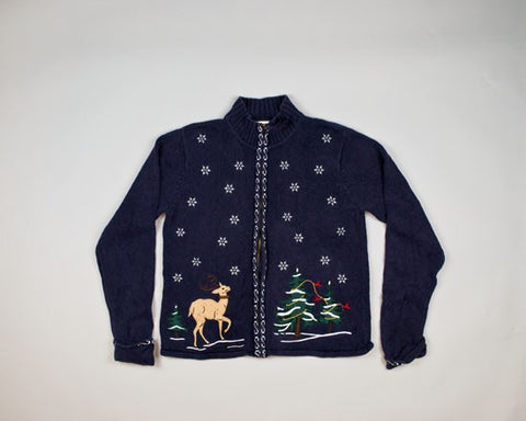 Unhelpful Deer-Small Christmas Sweater