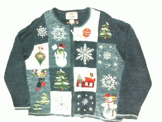 Trees and Snowflakes Bring Home The Holidays-Large Christmas Sweater