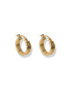 Iris Hoop earrings <br>Gold