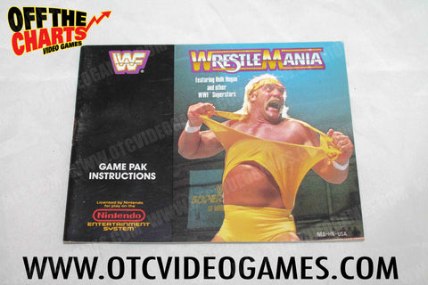 Wrestlemania Manual Nintendo NES Manual Off the Charts