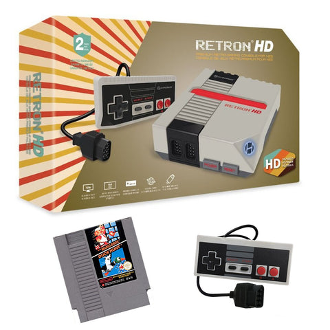 Retron 1 HD System 2-Player Starter Bundle with Super Mario Bros. Nintendo NES Console Off the Charts