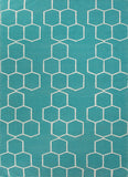Honeycomber Rug - Turquoise