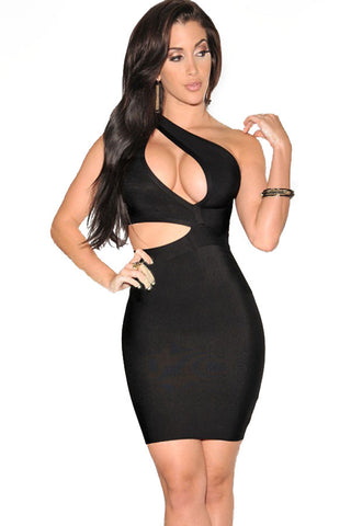 Valentina Black Bandage Dress