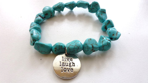 """Live, Laugh, Love"" Bracelet"