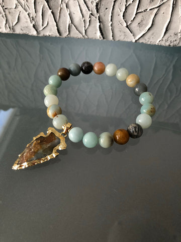 Arrowhead Bracelet - Amazonite Edition