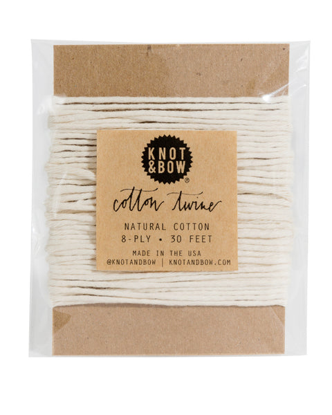Knot & Bow Cotton Twine Card Natural