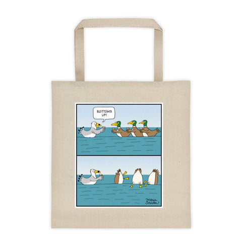 Bottoms Up Ducks Tote Bag