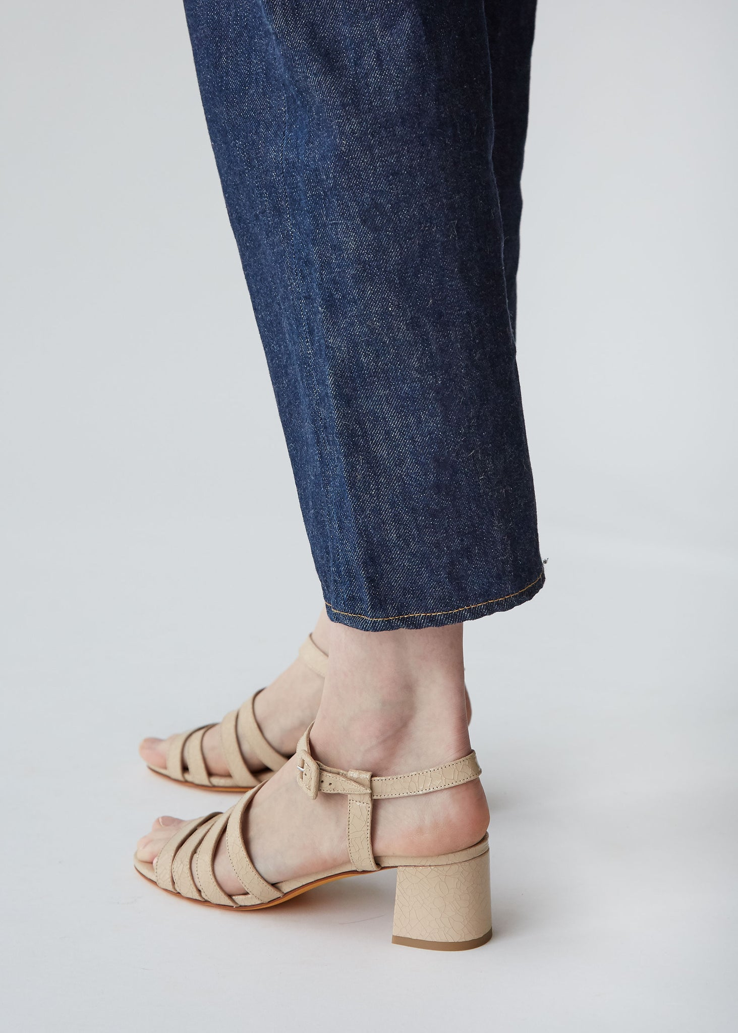 Palma Low Sandal in Buff Crackle - SOLD OUT