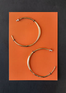 Medium Vero Hoops in Bronze