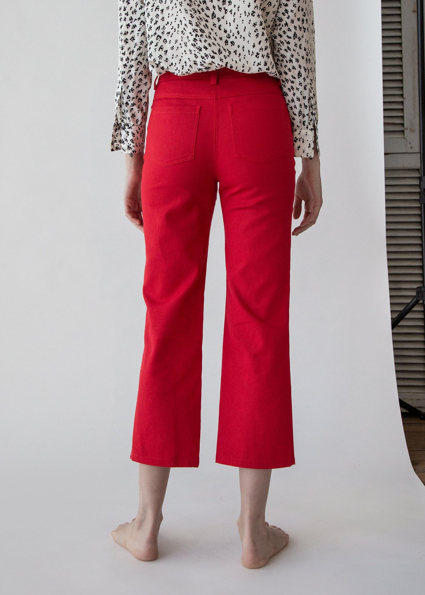 Tuesday Jean in Solid Red Twill