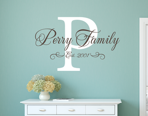 Classic Family Name Decal Set