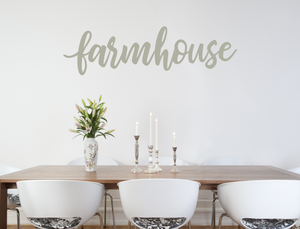farmhouse decal warm grey, farm house decor