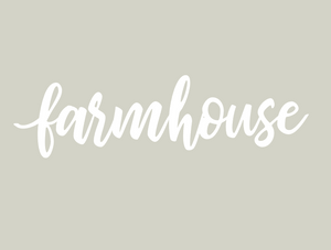 farm house decal white, farm house decor