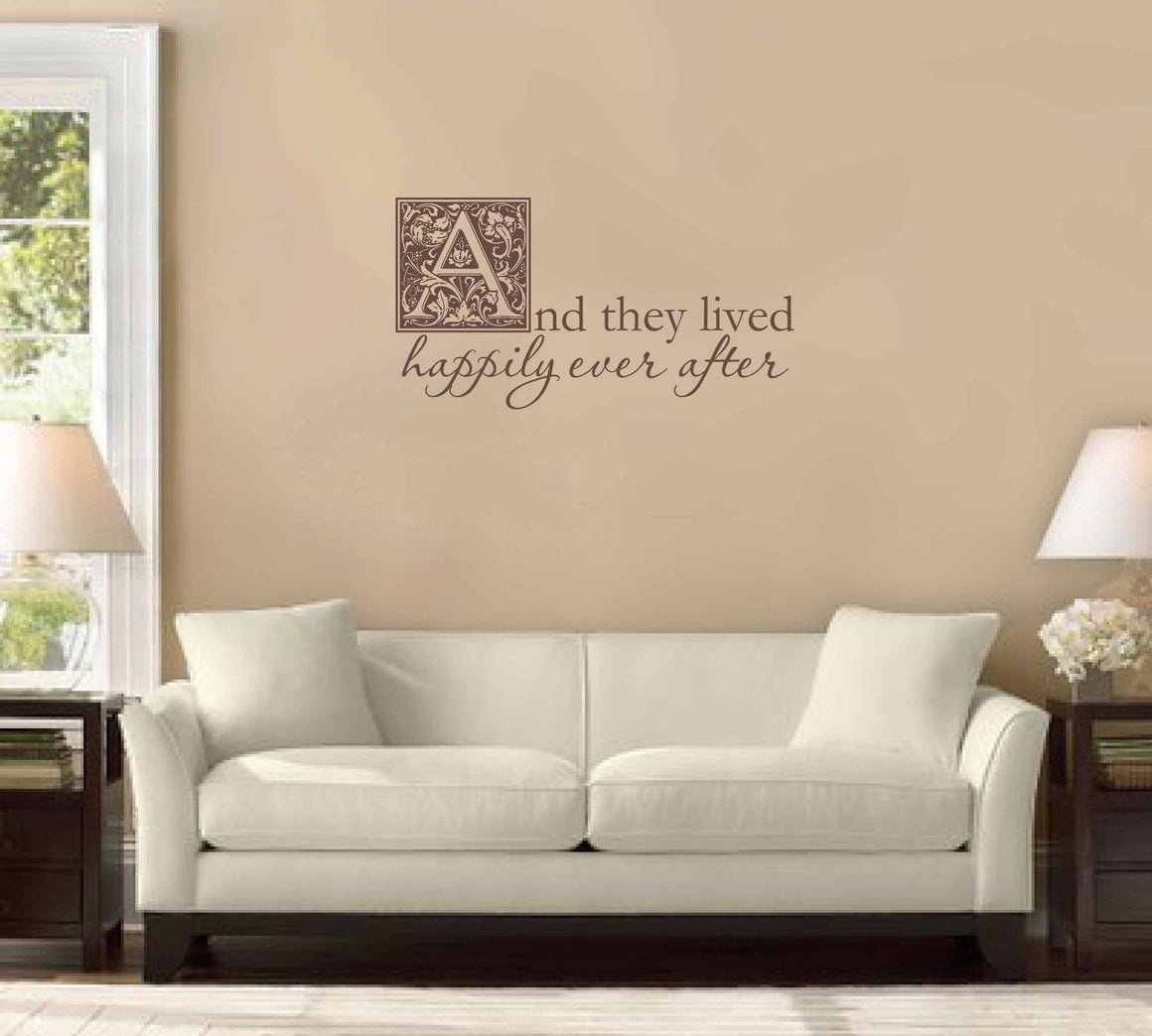 And they lived happily ever after - Wall Decal