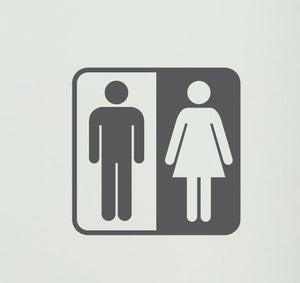 Bathroom Symbol Vinyl Wall Decal