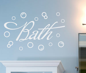 Bath with Bubbles Wall Decal