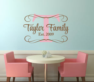 Family Name Decal Set - Sweet