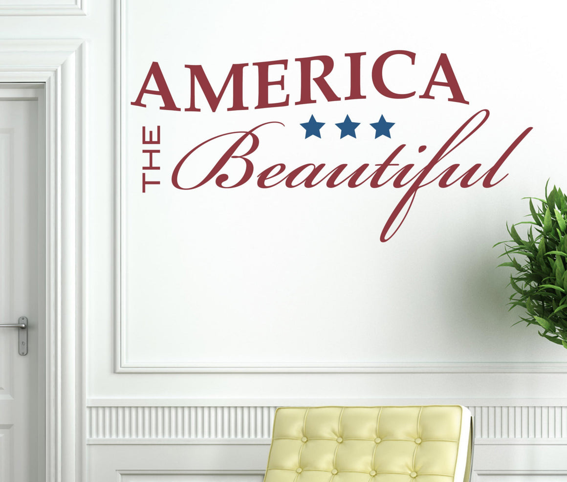 America the Beautiful Vinyl Wall Decal