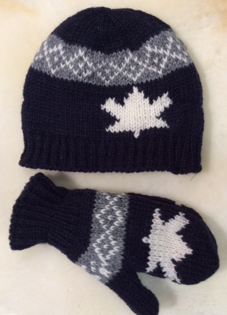 Hat-Canada Hand Knit Collection- Blue