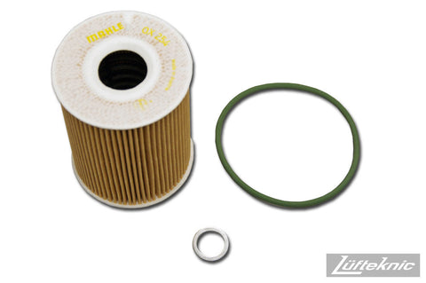 Engine oil filter kit w/ crush ring - Porsche Cayenne 4.8 V8, Panamera