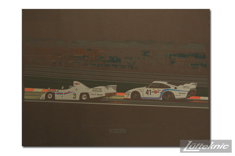Lüfteknic limited edition poster #3 - 936 & 935 at night, Le Mans '77