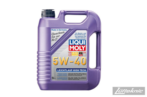 Engine oil - Liqui Moly 5w40 Leichtlauf High Tech synthetic 5 liter