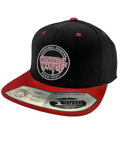 CANNIBAL CORPSE 'HOCKEY CLUB' CONTRAST STITCH SNAPBACK HOCKEY CAP