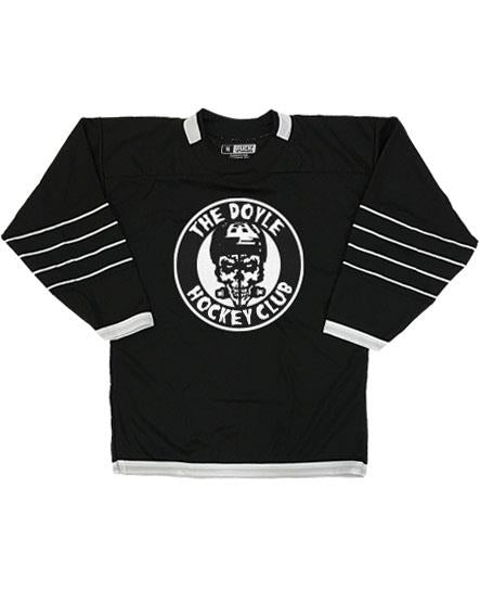 Doyle Wolfgang von Frankenstein 'ALL BLACK' hockey jersey in black and white with Doyle Hockey club twill emblem on front