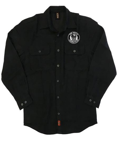 DOYLE 'THE DHC' hockey flannel in solid black