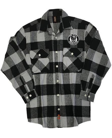 DOYLE 'THE DHC' hockey flannel in grey plaid