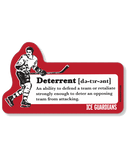 ICE GUARDIANS 'DETERRENT' hockey sticker