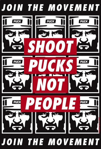 PUCK HCKY 'SHOOT PUCKS NOT PEOPLE' HOCKEY FLANNEL