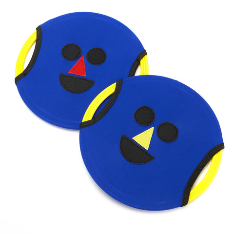 Early Years Coaching Aid. Easy Catch Happy Faces have a velcro stocky side, and a smooth, more challenging side.