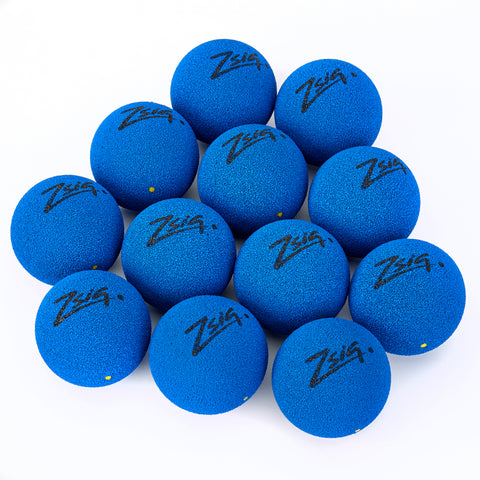 Zsig MP9 Tough Guy sponge ball in blue - a dozen.