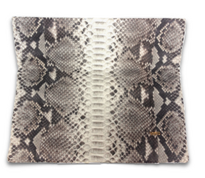 Small Natural Python Clutch